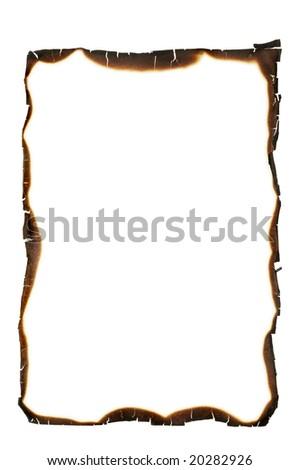 charred frame