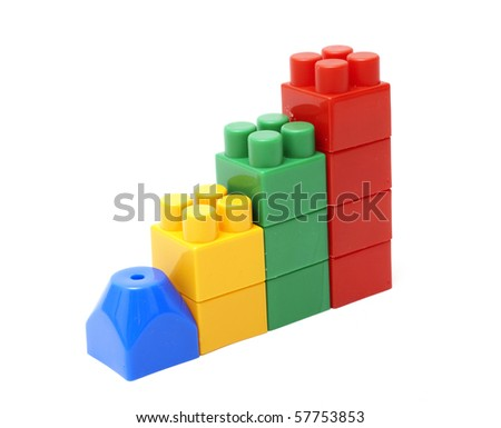 Chart from toy blocks