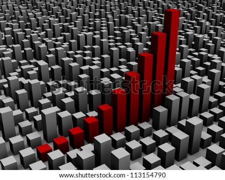 chart graph diagram - stock photo