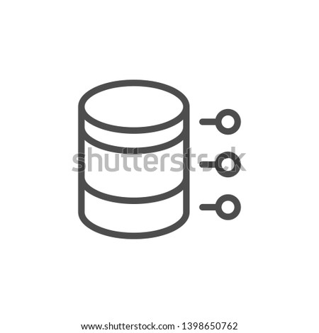 Chart line icon isolated on white