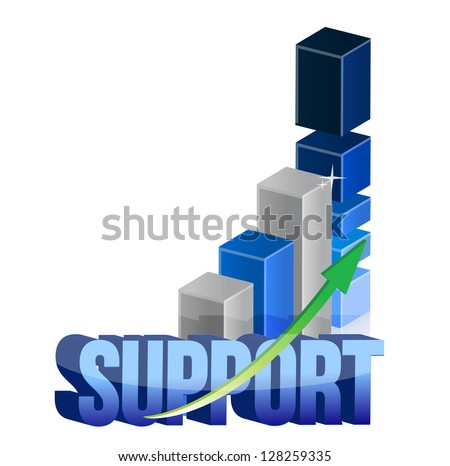 Chart support graph illustration design over a white background