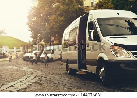 charter minibus in city Photo stock ©