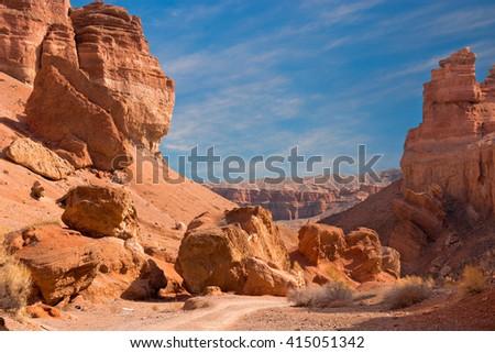 Shutterstock Charyn canyon in Almaty region of Kazakhstan