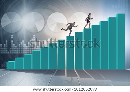 Chasing business people in competition concept #1012852099