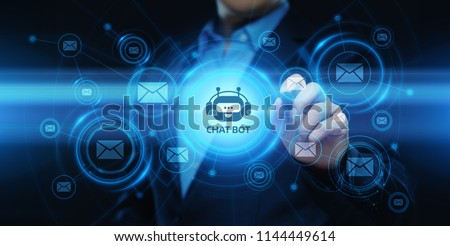 Chat bot Robot Online Chatting Communication Business Internet Technology Concept. #1144449614