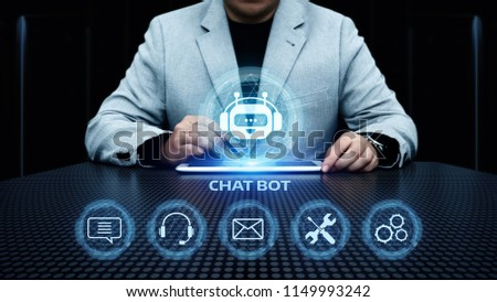 Chat bot Robot Online Chatting Communication Business Internet Technology Concept. #1149993242