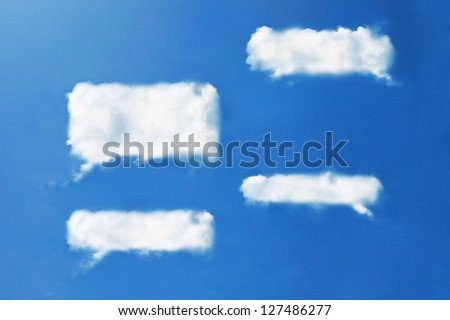 Chat clouds shape form