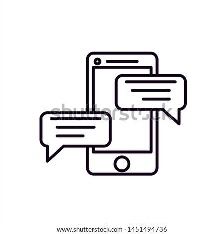 Chat messages notification on smartphone illustration.