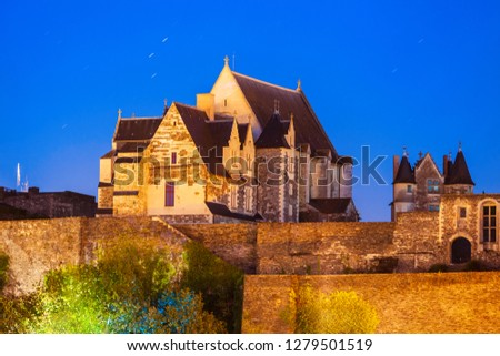 Chateau Angers is a castle in Angers city in Loire Valley, western in France #1279501519