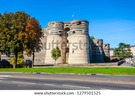 Chateau Angers is a castle in Angers city in Loire Valley, western in France #1279501525