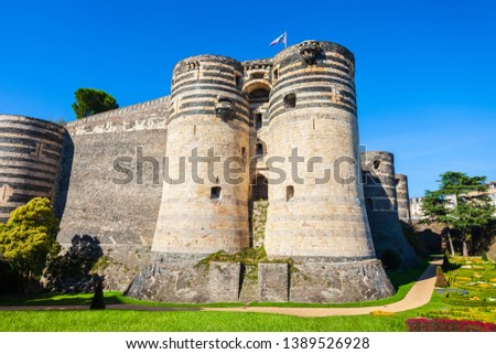 Chateau Angers is a castle in Angers city in Loire Valley, western in France #1389526928