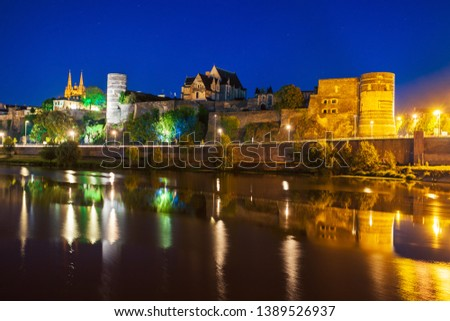 Chateau Angers is a castle in Angers city in Loire Valley, western in France #1389526937