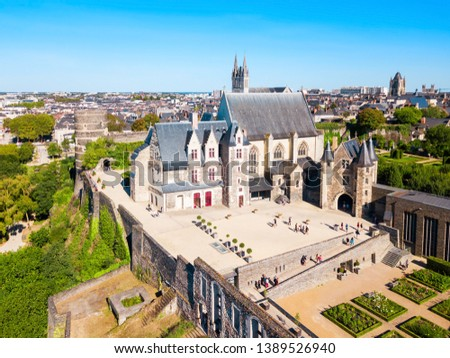 Chateau Angers is a castle in Angers city in Loire Valley, western in France #1389526940