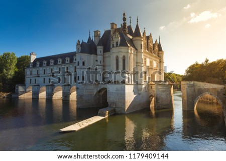 Chateau de Chenonceau. France. Chateau of the Loire Valley. #1179409144