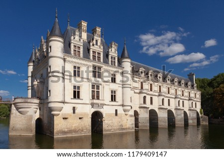 Chateau de Chenonceau. France. Chateau of the Loire Valley. #1179409147