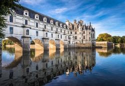 Chateau de Chenonceau on the Cher River, Loire Valley, France