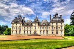 Chateau de Cheverny, a famous castle of the Loire valley in the departement Loir-et-Cher in France.