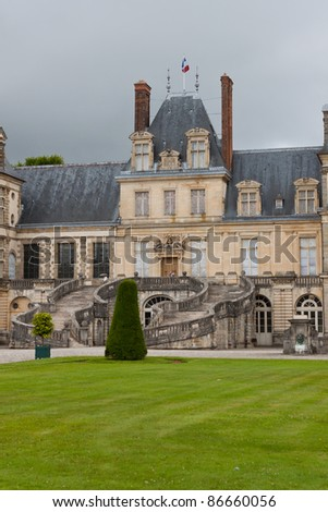 Chateau de Fontainebleau, residence of Napoleon I, Paris