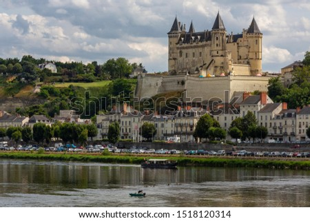 Chateau de Saumur in the Loire Valley, France. Originally built as a castle in the 10th century as a fortified stronghold against Norman attacks. It was later developed into a chateau. #1518120314