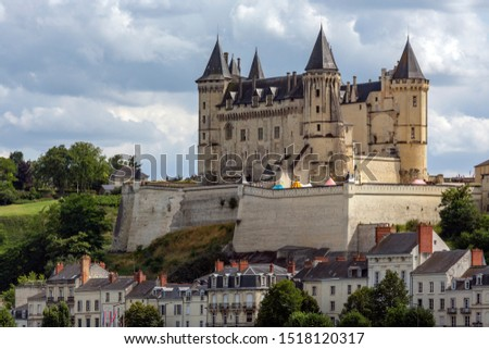 Chateau de Saumur in the Loire Valley, France. Originally built as a castle in the 10th century as a fortified stronghold against Norman attacks. It was later developed into a chateau. #1518120317