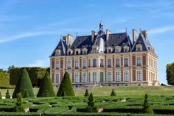 Chateau de Sceaux inside parc de Sceaux in summer - Hauts-de-Seine, France.