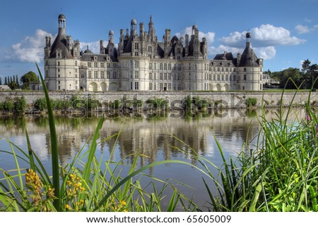 chateau du chambord loire valley france hdr image stock photo 65605009 shutterstock. Black Bedroom Furniture Sets. Home Design Ideas
