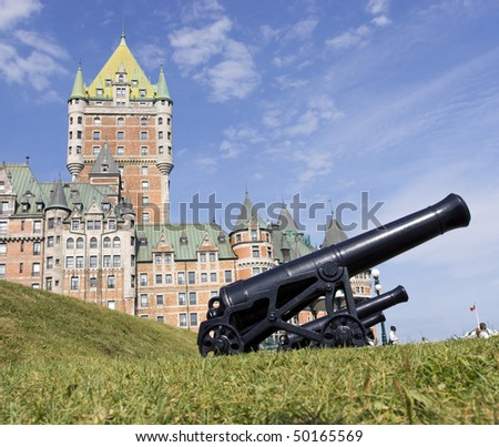 Chateau Frontenac and cannons, Quebec City
