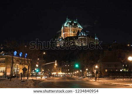 Chateau Frontenac at the night, Quebec City, Canada. #1234840954