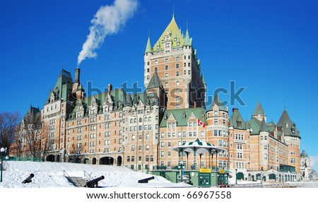 Chateau Frontenac in winter, Quebec City, Canada