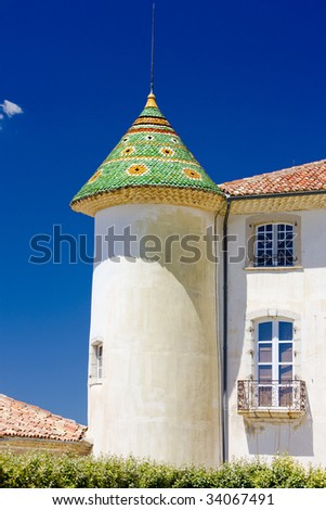 chateau's detail in Aiguines, Var Departement, Provence, France