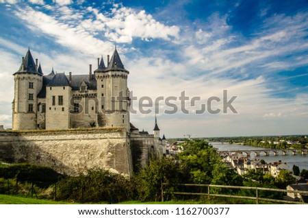 Chateau Saumur, France Stok fotoğraf ©