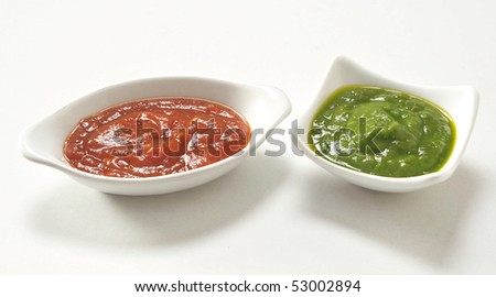 Chatney & Sauce - stock photo