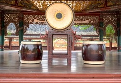 Chatree Drum is a southern thai musical instrument made from jackfruit wood used in theatrical performances, Nora and the shadow play