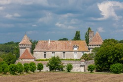 Chatteau de Gageac in the country Bergeracois, Dordogne, France