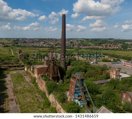 Chatterley Whitfield Colliery first started mining coal in the 13th century . Based in Chell in Stock on Trent Staffordshier in the uk. Coal production was stopped on Frday March 25th 1977. Photo stock ©