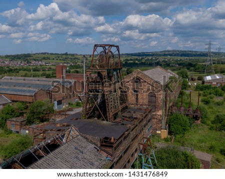 Chatterley Whitfield colliery on the out skirts of Chell ,Staffordshire stoke on trent the uk. Coal was first mined in the 13th century onwards. Now the colliery is a museum. Photo stock ©