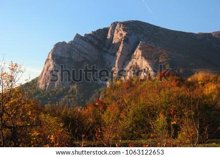 Chatyr Dag mountain range in Crimea, Ukraine
