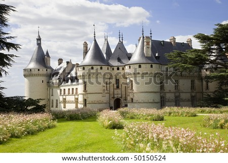 Chaumont Chateau panoramic. France