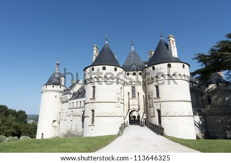 CHAUMONT SUR LOIRE, FRANCE - AUGUST 18: Castle on August 18, 2012 in Chaumont Sur Loire, France. Originally built in the 10th century, has undergone multiple renovations until reaching its present appearance.