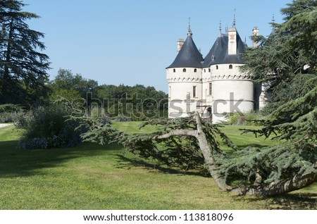CHAUMONT SUR LOIRE, FRANCE - AUGUST 18: Castle on August 18, 2012 in Chaumont Sur Loire: Originally built in the 10th century, has undergone multiple renovations until reaching its present appearance.