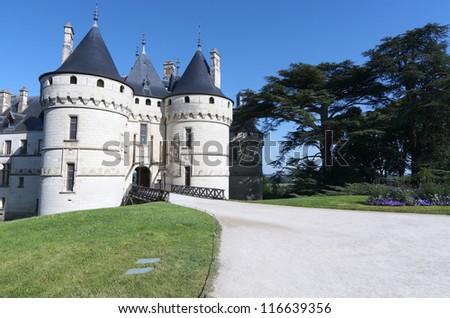 CHAUMONT SUR LOIRE, FRANCE - AUGUST 18: Castle on August 18, 2012 in Chaumont Sur Loire. Originally built in the 10th century, has undergone multiple renovations until reaching its present appearance.