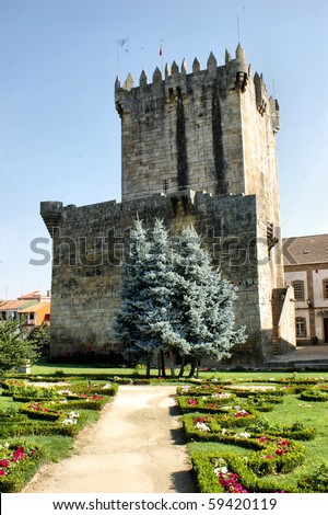 Chaves castle in north of Portugal