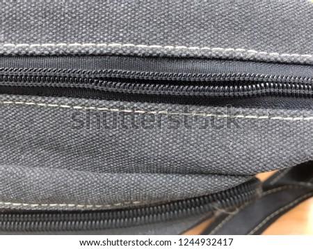 Cheap bag with a zipper problem.
