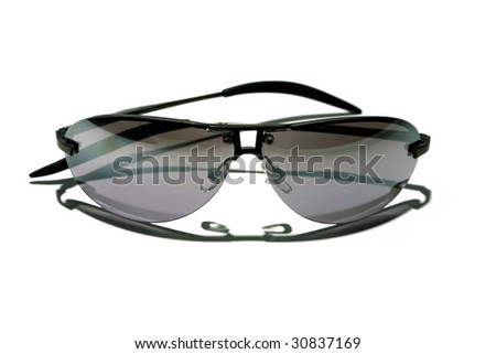 Cheap Generic Sunglasses  isolated on white - stock photo