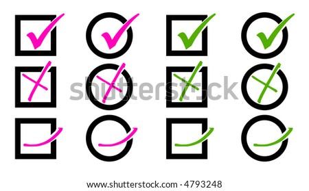check box pink green