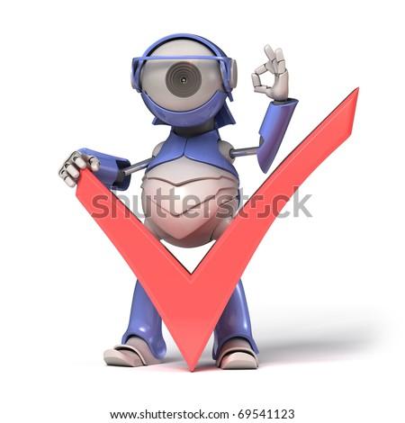 Check icon and robot