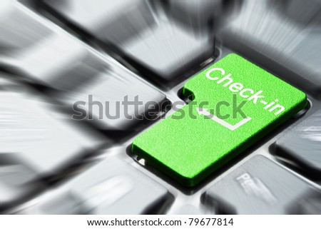 Check in button on keyboard