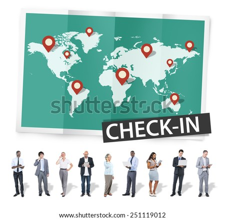 Check In Travel Locations Global World Tour Concept