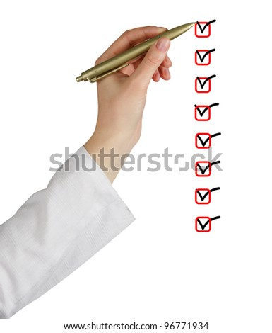 Check list - stock photo