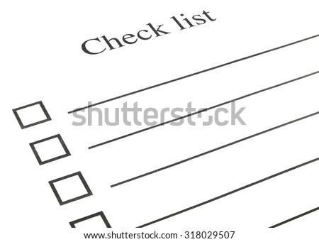 check list on white paper